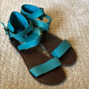 Steve Madden bright blue sandals